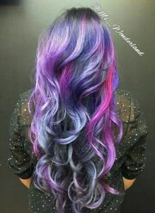 Galaxy hair dye tutorial galaxy hair trend source hair color ideas designed by stylist alice solutioingenieria Gallery