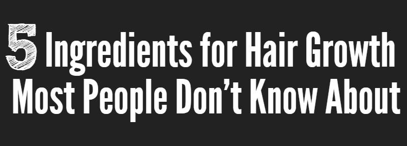 5 ingredients hair growth